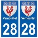 28 Vernouillet blason stickers ville