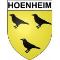 Hoenheim 67 ville Stickers blason autocollant adhésif