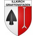 Illkirch-Graffenstaden 67 ville Stickers blason autocollant adhésif