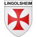 Lingolsheim 67 ville Stickers blason autocollant adhésif