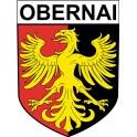 Obernai 67 ville Stickers blason autocollant adhésif