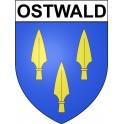 Ostwald 67 ville Stickers blason autocollant adhésif