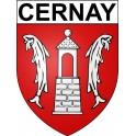 Cernay 68 ville Stickers blason autocollant adhésif
