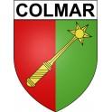 Colmar 68 ville Stickers blason autocollant adhésif