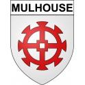 Mulhouse 68 ville Stickers blason autocollant adhésif