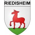 Riedisheim 68 ville Stickers blason autocollant adhésif
