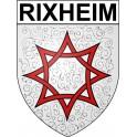 Rixheim 68 ville Stickers blason autocollant adhésif