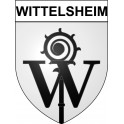 Wittelsheim 68 ville Stickers blason autocollant adhésif