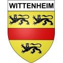 Wittenheim 68 ville Stickers blason autocollant adhésif