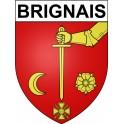 Brignais 69 ville Stickers blason autocollant adhésif