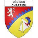 Décines-Charpieu 69 ville Stickers blason autocollant adhésif