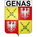 Stickers coat of arms Anglet adhesive sticker