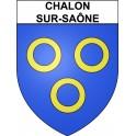 Chalon-sur-Saône 71 ville Stickers blason autocollant adhésif