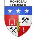 Montceau-les-Mines 71 ville Stickers blason autocollant adhésif