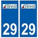 29 Brest logo autocollant plaque stickers ville