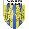 Stickers coat of arms Saint-Julien-en-Genevois adhesive sticker
