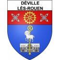 Déville-lès-Rouen 76 ville Stickers blason autocollant adhésif