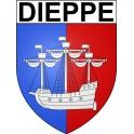 Dieppe 76 ville Stickers blason autocollant adhésif