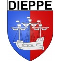 Stickers coat of arms Dieppe adhesive sticker