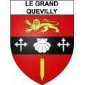 Le Grand-Quevilly 76 ville Stickers blason autocollant adhésif