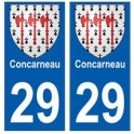 29 Concarneau blason autocollant plaque stickers ville
