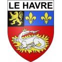 Le Havre 76 ville Stickers blason autocollant adhésif