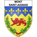 Mont-Saint-Aignan 76 ville Stickers blason autocollant adhésif