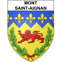 Stickers coat of arms Mont-Saint-Aignan adhesive sticker