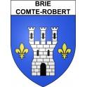 Brie-Comte-Robert 77 ville Stickers blason autocollant adhésif