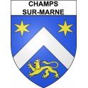 Champs-sur-Marne 77 ville Stickers blason autocollant adhésif