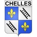 Chelles 77 ville Stickers blason autocollant adhésif