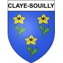 Claye-Souilly 77 ville Stickers blason autocollant adhésif