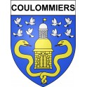 Coulommiers 77 ville Stickers blason autocollant adhésif