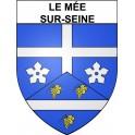 Le Mée-sur-Seine 77 ville Stickers blason autocollant adhésif