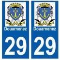 29 Douarnenez blason autocollant plaque stickers ville