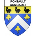 Stickers coat of arms Pontault-Combault adhesive sticker