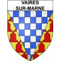 Stickers coat of arms Vaires-sur-Marne adhesive sticker