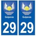 29 Guipavas blason autocollant plaque stickers ville