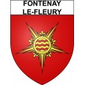 Fontenay-le-Fleury 78 ville Stickers blason autocollant adhésif