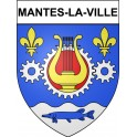Stickers coat of arms Mantes-la-Ville adhesive sticker