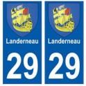 29 Landerneau blason autocollant plaque stickers ville