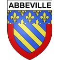 Abbeville 80 ville Stickers blason autocollant adhésif
