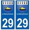 29 Le Relecq-Kerhuon blason autocollant plaque stickers ville