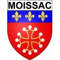 Moissac 82 ville Stickers blason autocollant adhésif