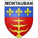 Montauban 82 ville Stickers blason autocollant adhésif