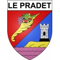 Stickers coat of arms Le Pradet adhesive sticker