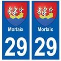 29 Morlaix blason autocollant plaque stickers ville