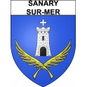 Stickers coat of arms Sanary-sur-Mer adhesive sticker