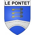 Stickers coat of arms Le Pontet adhesive sticker