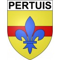 Stickers coat of arms Pertuis adhesive sticker